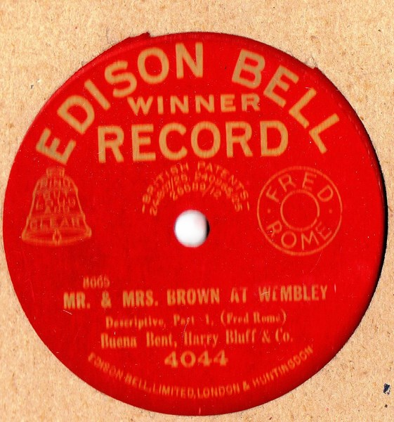 Buena Bent & Harry Bluff - Mrs Browne Wembley - Edison Bell 4044