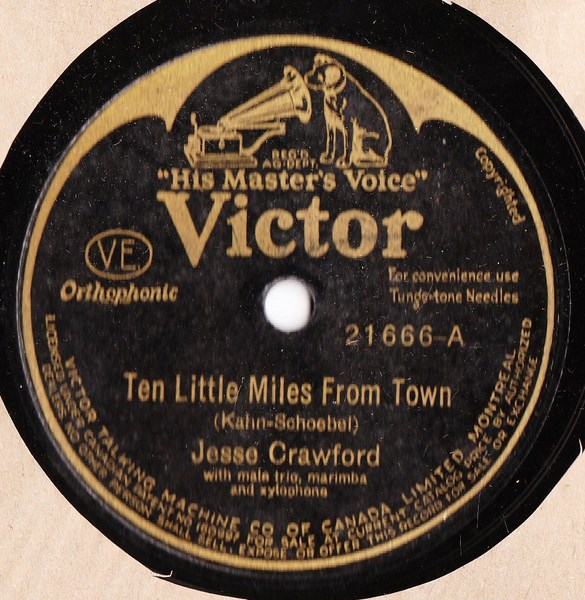 Jesse Crawford - Ten little miles from town - Victor 21666 USA