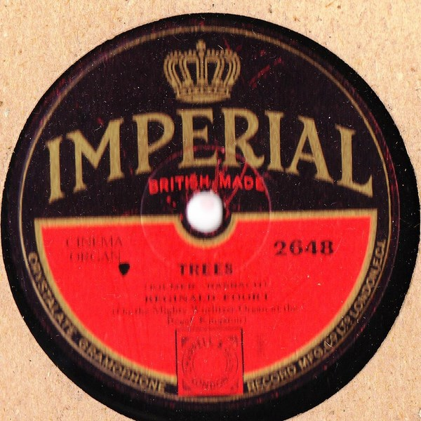 Reginald Foort - Home / Trees - Imperial 2648