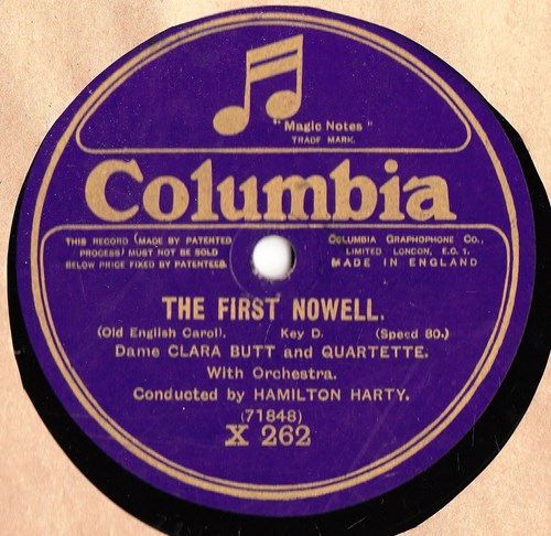 Dame Clara Butt - The First Nowell - Columbia X.262 One Sided