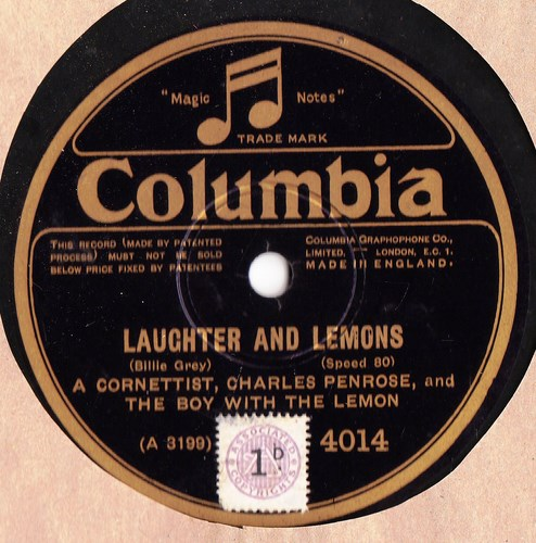 Charles Penrose - The Laughing Policeman - Columbia 4014