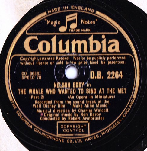 Nelson Eddy - The Whale who wanted to sing- Columbia D.B. 2264