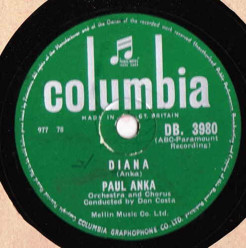 Paul Anka - Diana - Columbia DB.3890 UK Rare