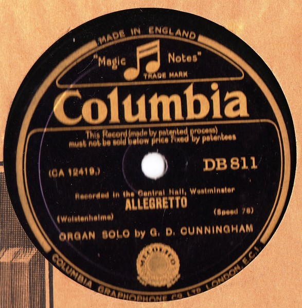 G.D. Cunningham - A.D. 1620 / Allegretto - Columbia DB.811
