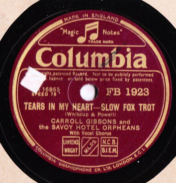 Carroll Gibbons - You're a sweetheart - Columbia FB.1923