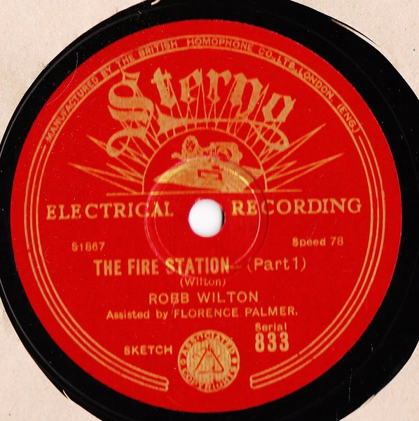 Robb Wilton Comedian - The Fire Station - Sterno 833