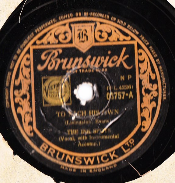 Ink Spots - To each his own - Brunswick 03757