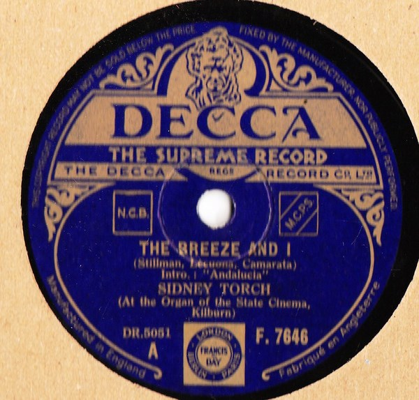 Sidney Torch - The Breeze and I - Decca F.7647