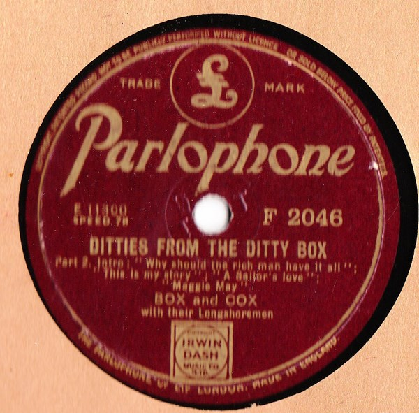 Box & Cox - Ditties from the Ditty Box - Parlophone F.2046