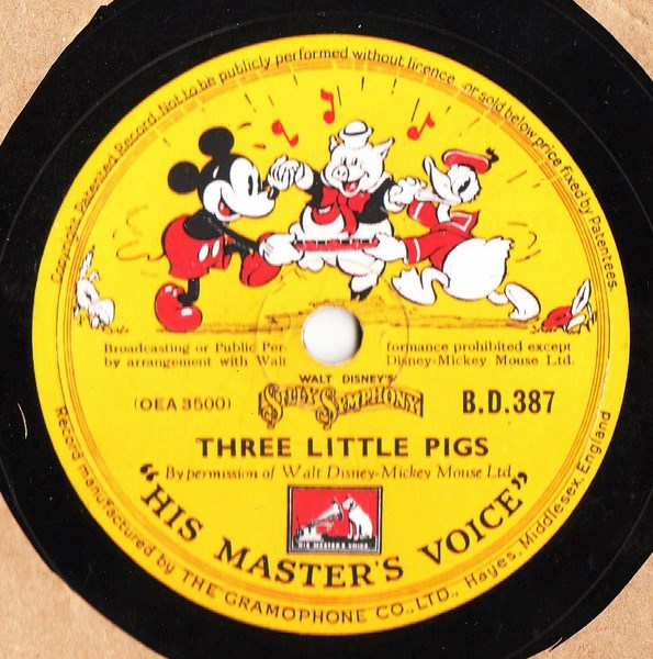 Walt Disney Three Little Pigs / Wolves - HVM BD. 387