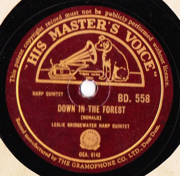 Leslie Bridgewater - Down in the Forest - HMV B.D.558