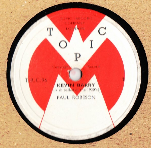 Paul Robeson - Kevin Barry - Topic TRC 96