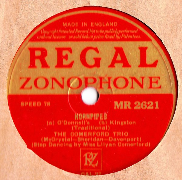 Comerford Trio - Reels & Hornpipes - Regal MR.2621