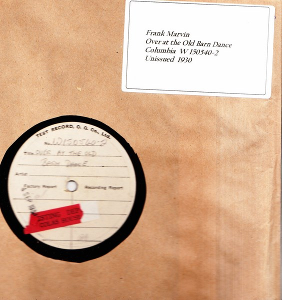 Frank Marvin - Over at the Old Barn - Test Pressing W 150540-2