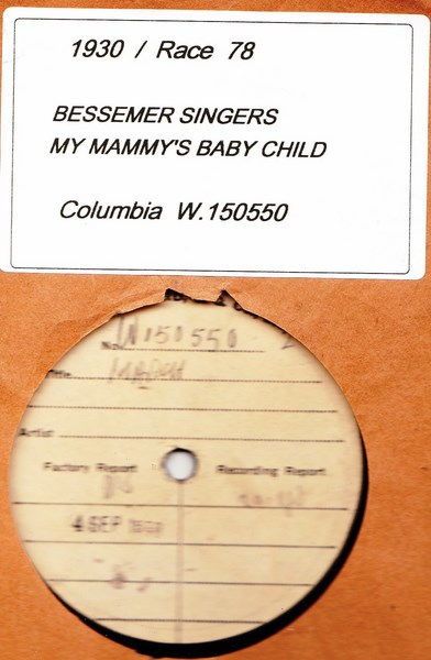 Bessmer Singers - My Mammy's Baby Child - Test W.150550