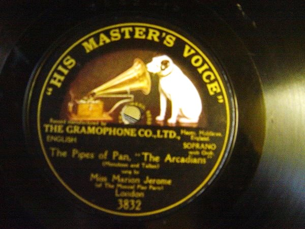 Marion Jerome - The Pipes of Pan - HMV 3832 One Sided