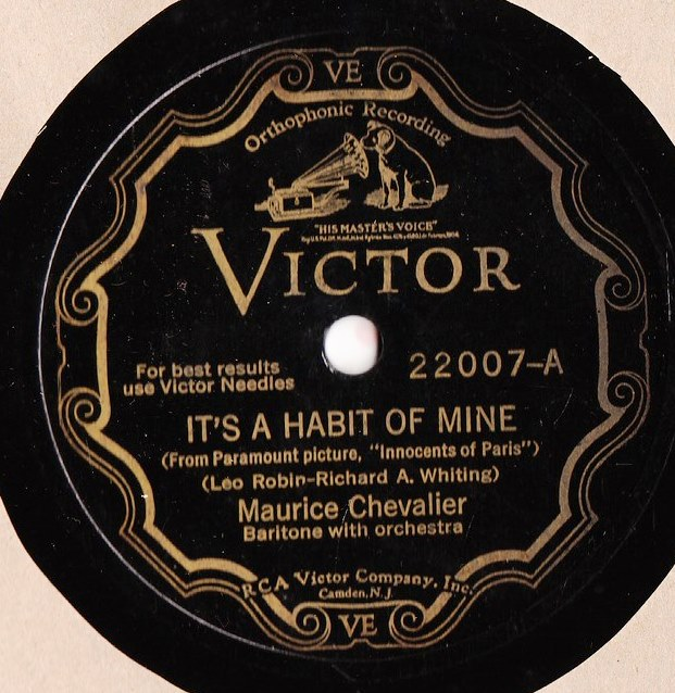 Maurice Chevalier - It's a habit of mine - Victor Scroll 22007