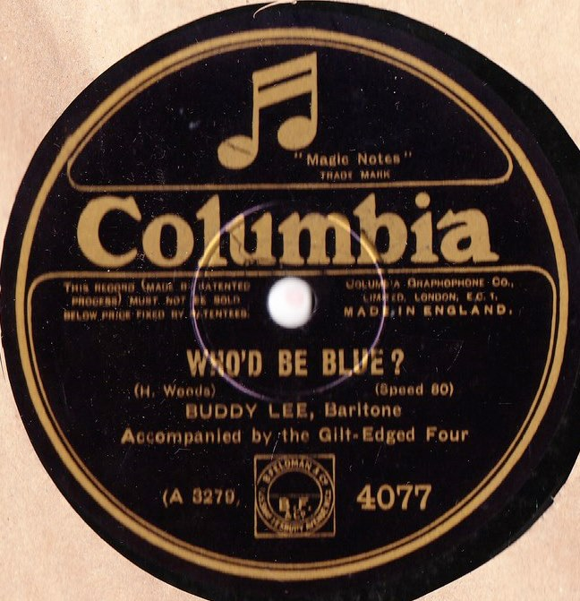 Buddy Lee Baritone - Who'd be blue - Columbia 4077