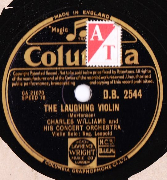 Charles Williams - The Laughing Violin - Columbia D.B. 2544