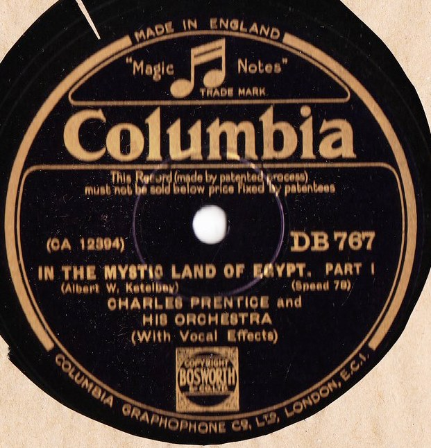 Charles Prentice - In the mystic land of Egypt - Columbia DB.767