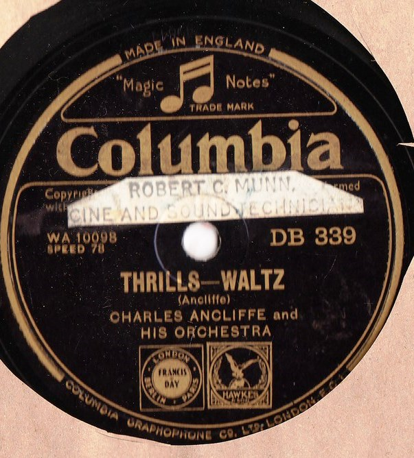 Charles Ancliffe - Thrills. Nights of Gladness - Columbia DB.339