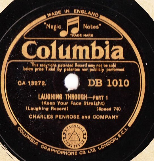 Charles Penrose - Laughing Through - Columbia DB.1010