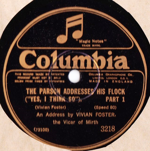 Vivian Foster - The Parson Addresses his Flock - Columbia 3218