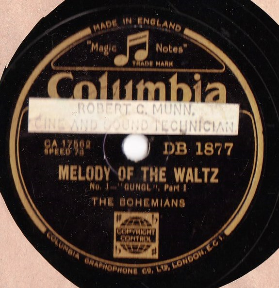 The Bohemians - Melody of the Waltz - Columbia DB.1877