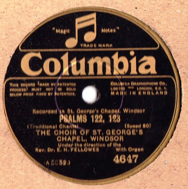 Choir of St. Georges Chapel - Psalms 122 & 123 - Columbia 4647