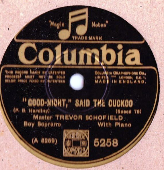 Trevor Schofield Boy Soprano - Bird Song - Columbia 5258