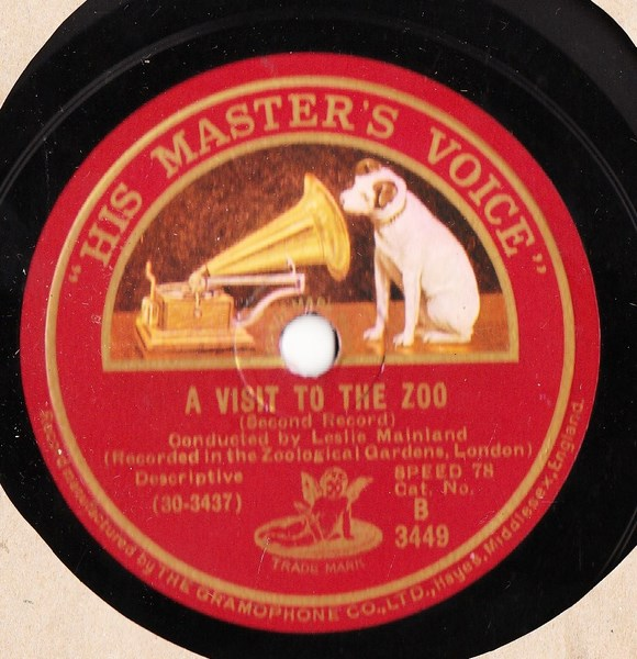 Leslie Mainland - A Visit to the Zoo - HMV B.3449