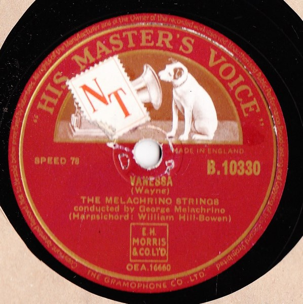 Melachrino Strings - Vanessa / Meet Mr. Callaghan - HMV B.10330