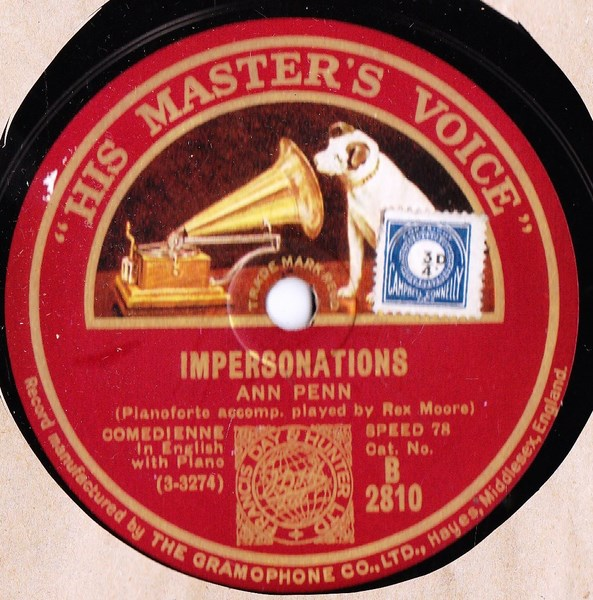 Ann Penn - Impersonation - HMV B.2810