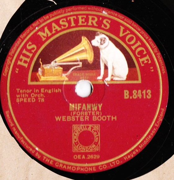 Webster Booth - At Dawning / Mifanwy - HMV B.8413