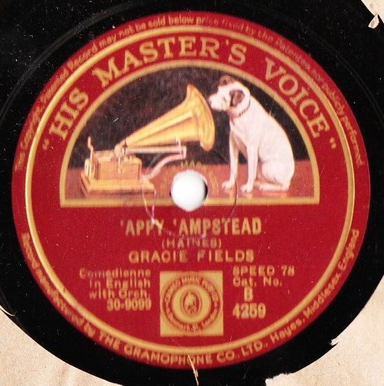 Gracie Fields - 'Appy 'Ampstead - HMV B.4259