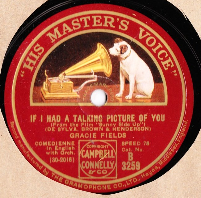 Gracie Fields - If I had a talking picture of you - HMV B. 3259