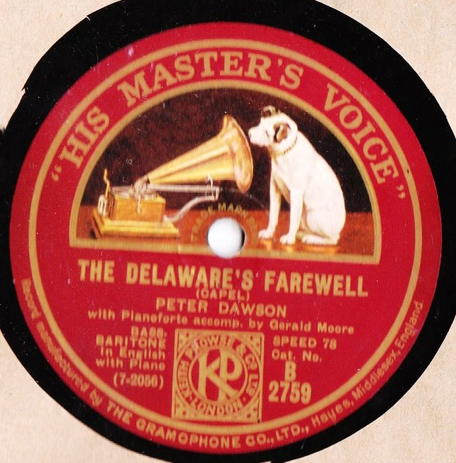 Peter Dawson - The Delaware's Farewell - HMV B.2759
