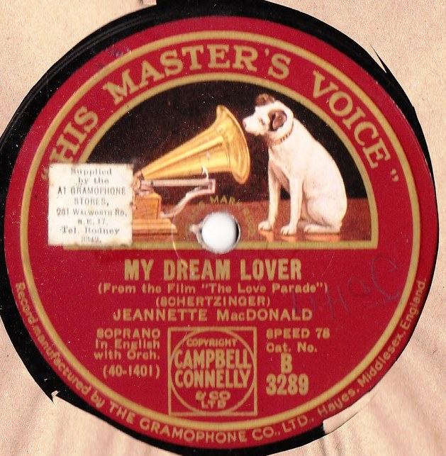 Jeannette MacDonald - My Dream Lover - HMV B.3289