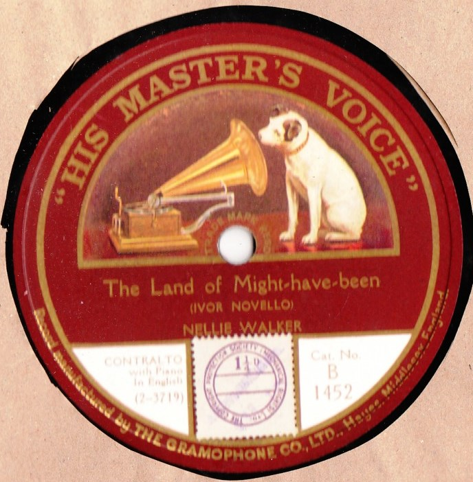 Nellie Walker - The land of might have been - HMV B.1452