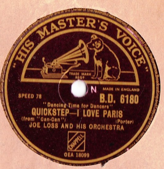 Joe Loss - I Love Paris - HMV B.D. 6180