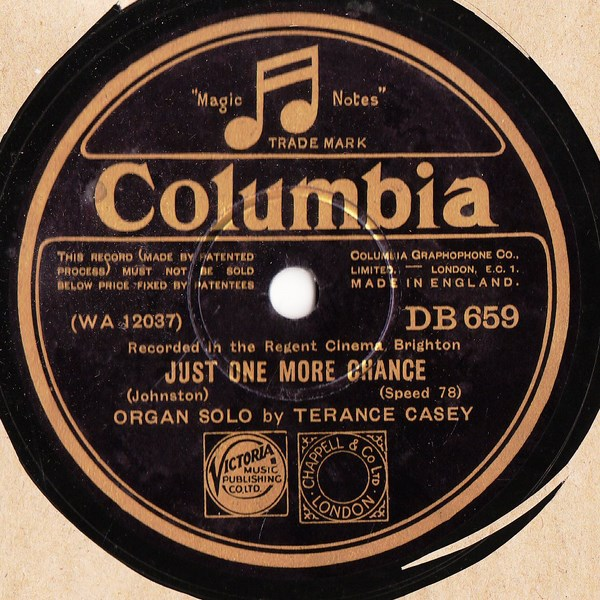 Terance Casey Organ - Time alone will tell - Columbia DB.659