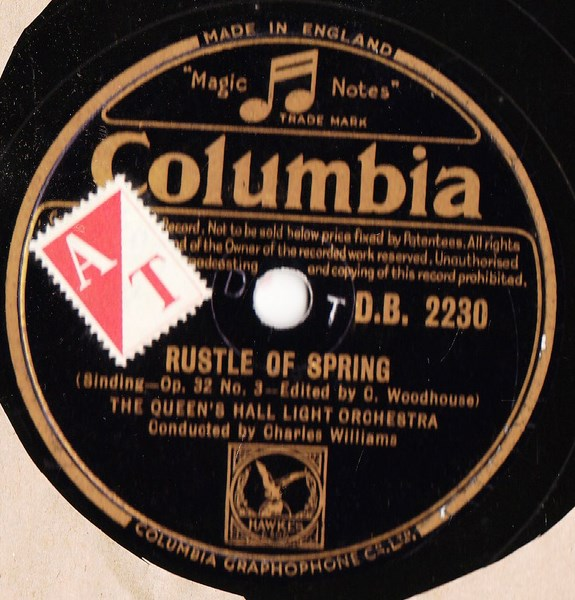 Queen's Hall Light Orchestra - Dusk - Columbia DB. 2230