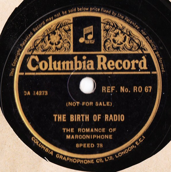 The Birth of Radio - Columbia RO. 67 Promo