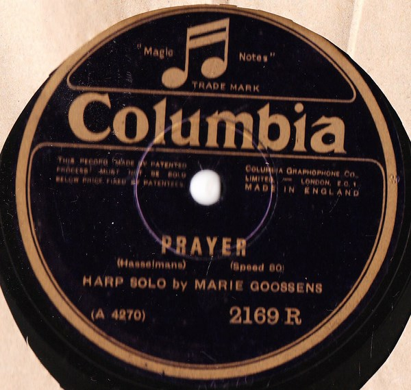 Marie Goossens Harp - Prayer - Columbia 2169R