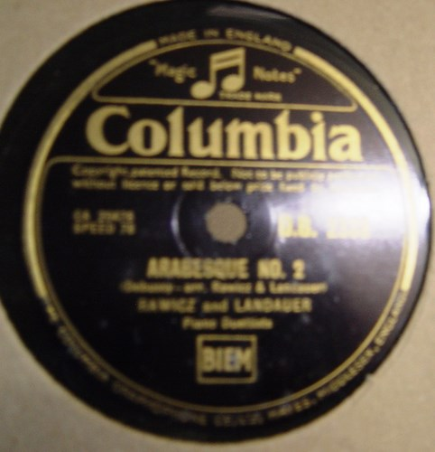 Rawicz & Landauer - Arabesque No. 2 - Columbia D.B.2338