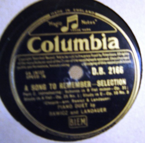 Rawicz & Landauer - A Song to remember - Columbia D.B.2166