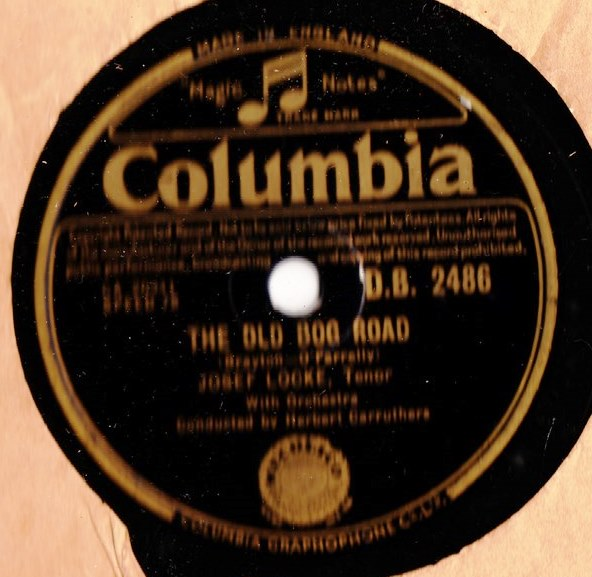 Josef Locke - The Old Bog Road - Columbia DB. 2486