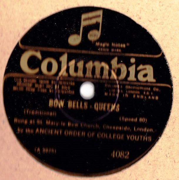 Ancient Society of College Youths - Bow Bells - Columbia 4082