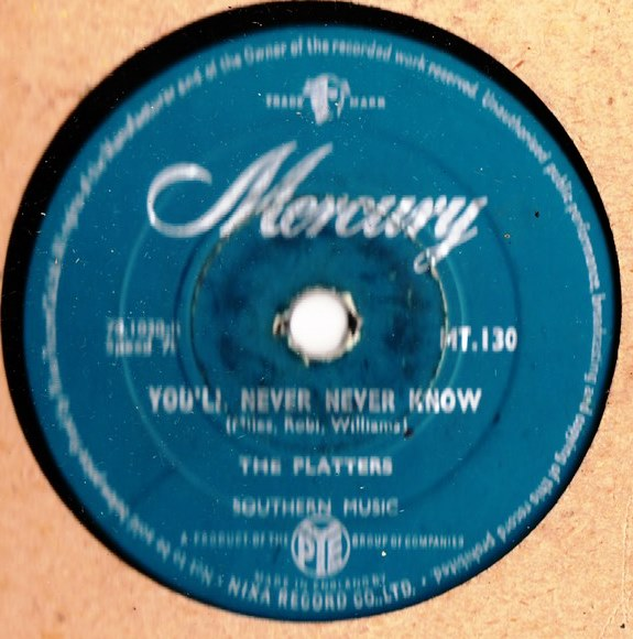 The Platters - You'll never never know - Mercury MT 130