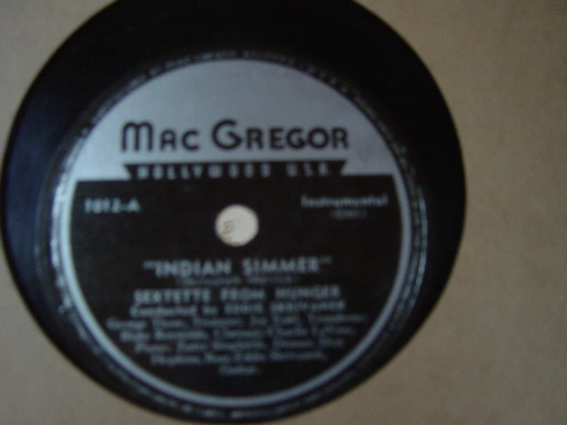 Sextette from Hunger - Indian Summer - Mac Gregor 1012